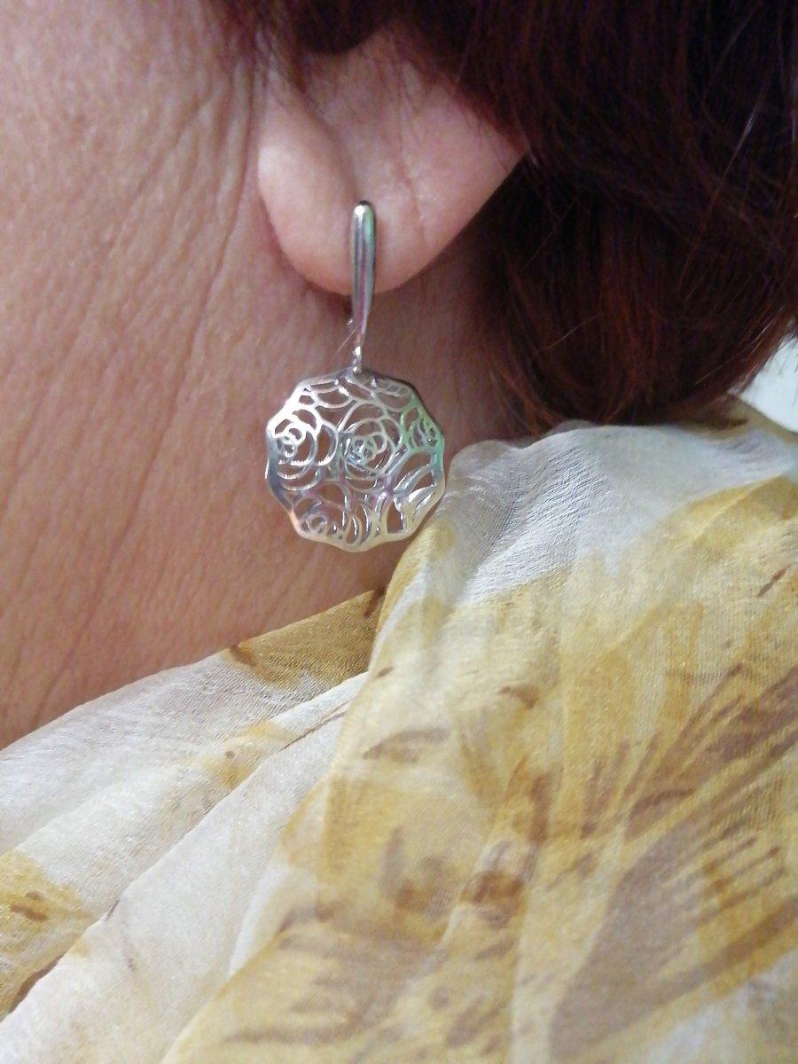 Серебреные серьги