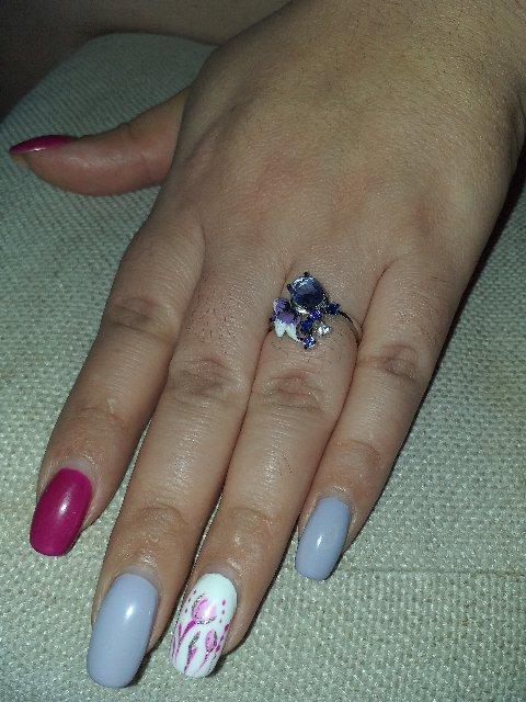 Кольцо с цветочками