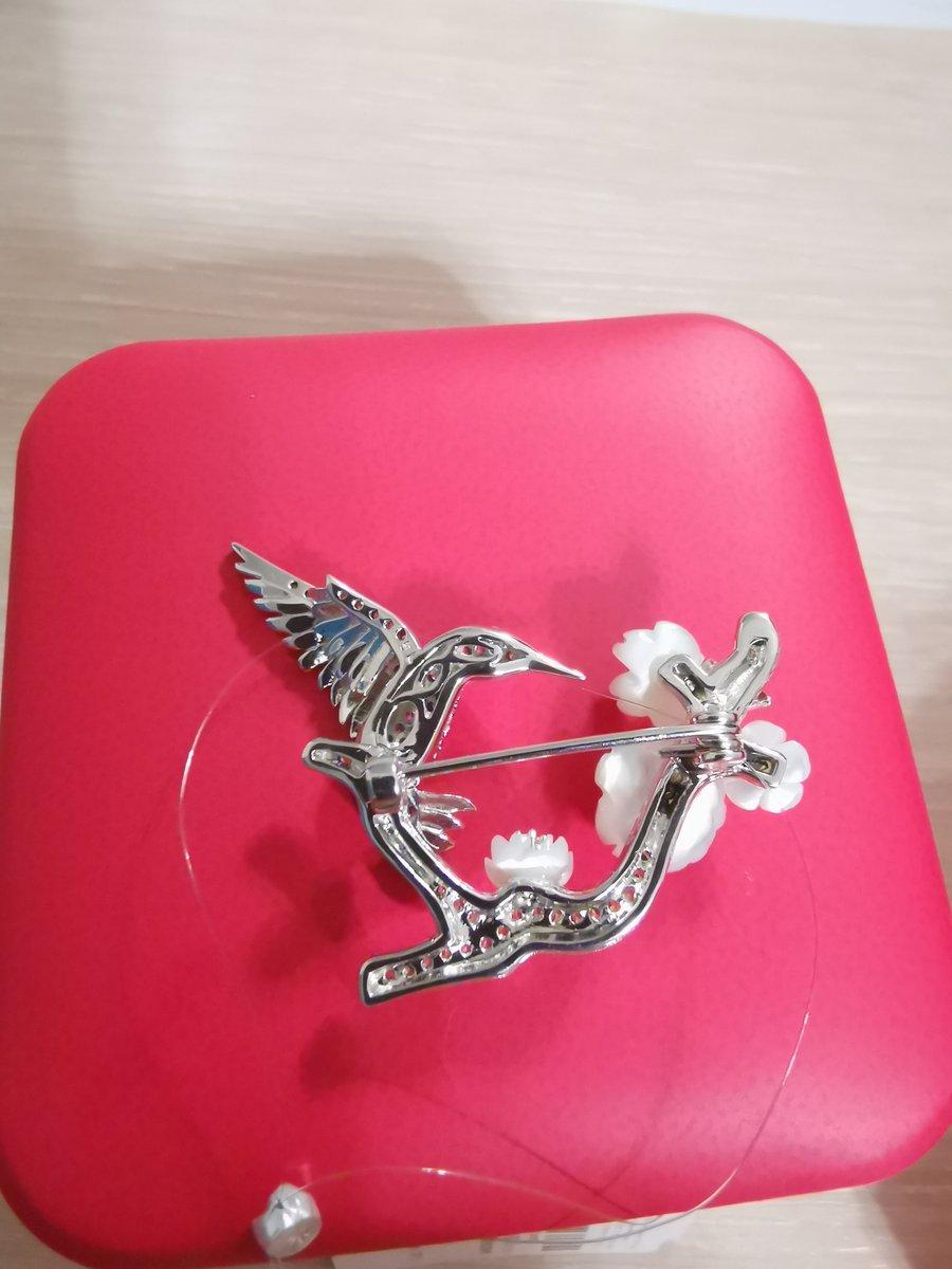 Брошка колибри