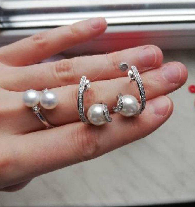 Серебряные серьги с жемчугом