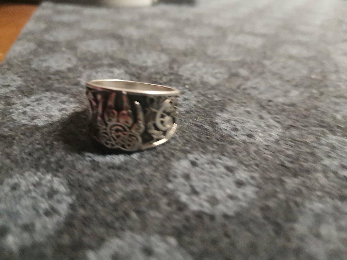 """Серебряное кольцо - оберёг """"Печать Велеса"""""""