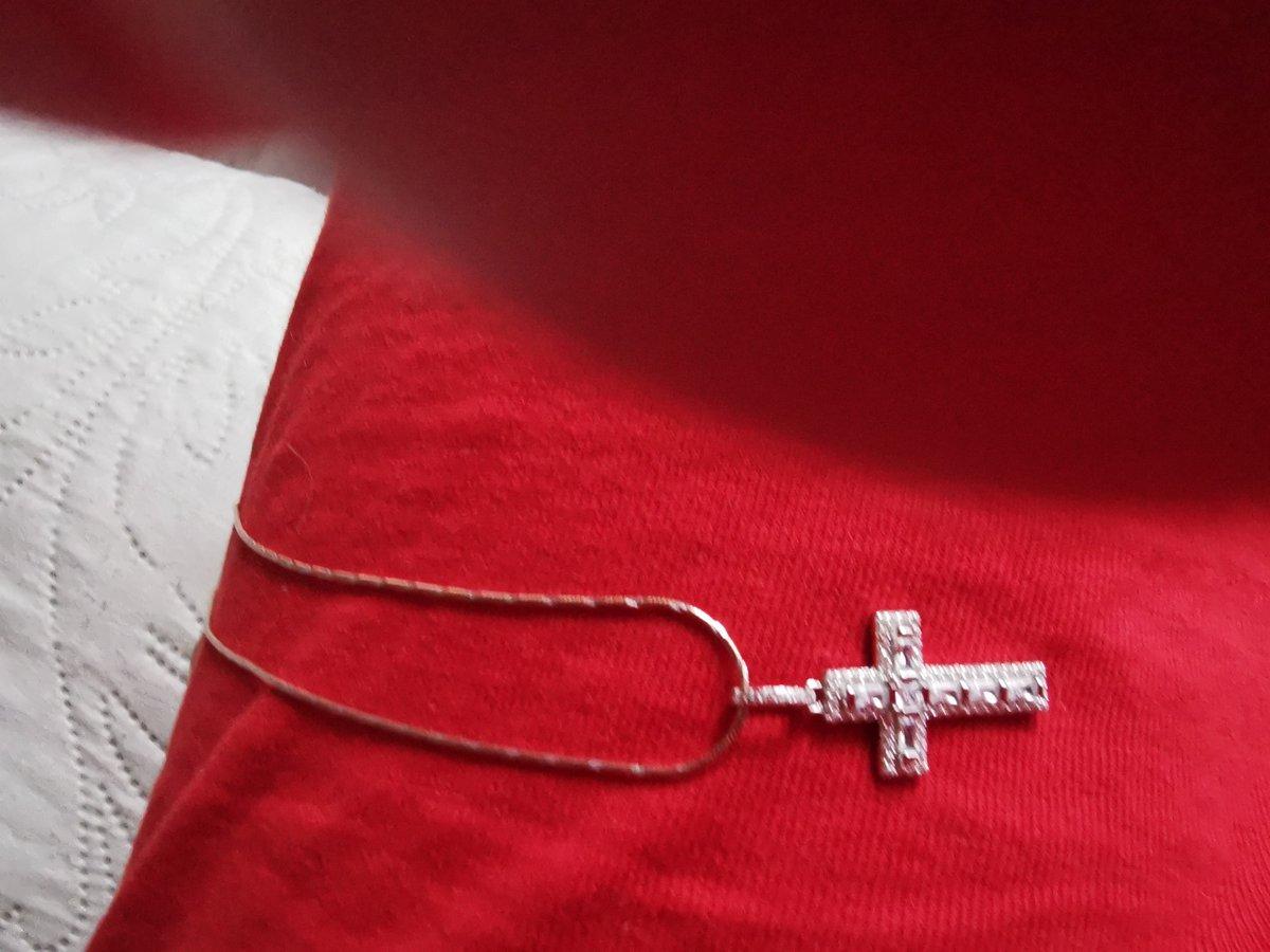 Серебряный кулон-крестик