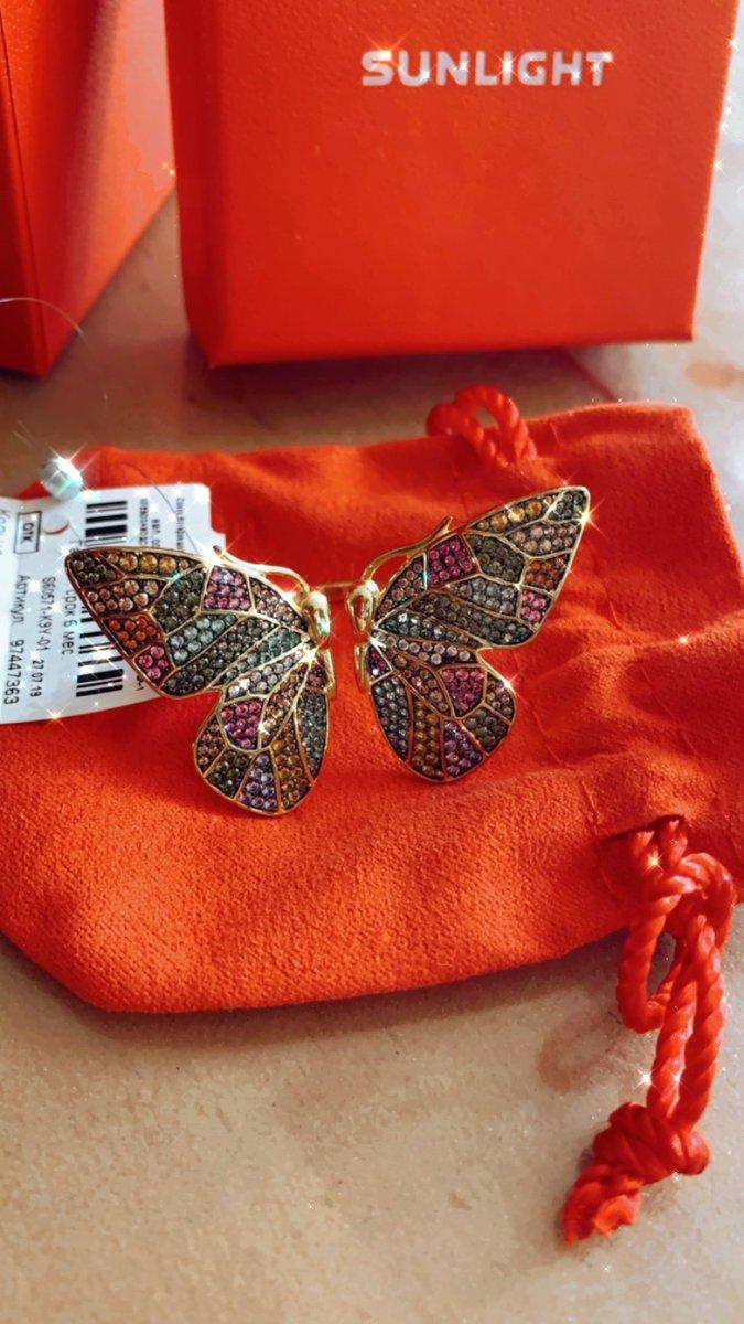 Кольцо бабочка, крупное