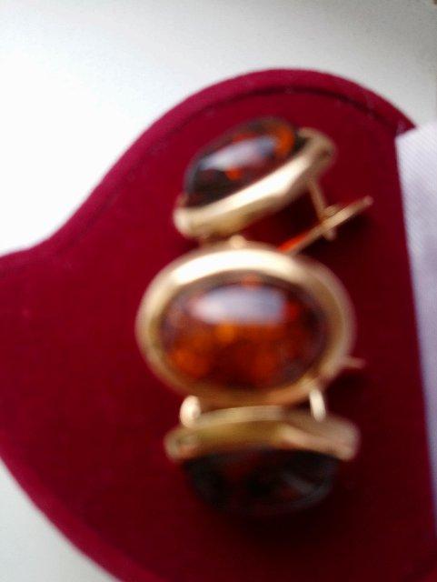 Серьги с янтарём