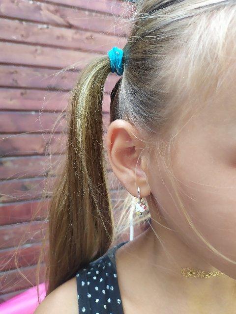 Детские серьги с эмалью