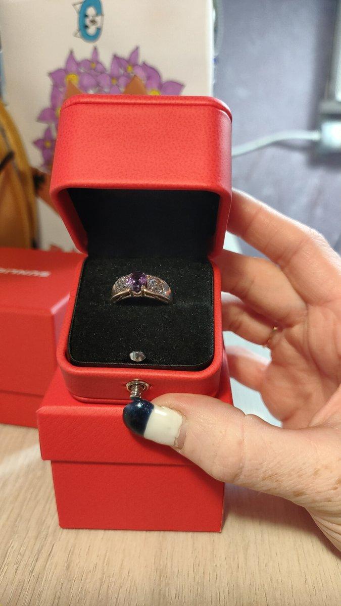 Кольцо из комплекта с аметистом