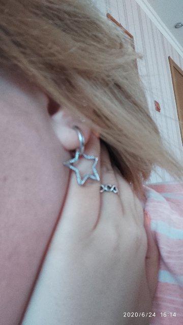 Серьги из серебра , звёзды!!!
