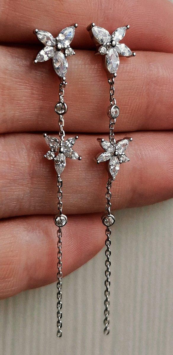 Утонченные серебряные сережки