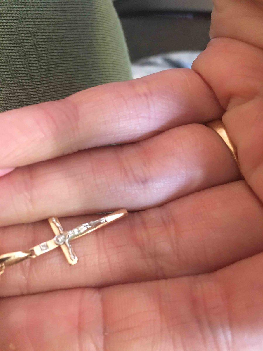 Подвеска золотая крест