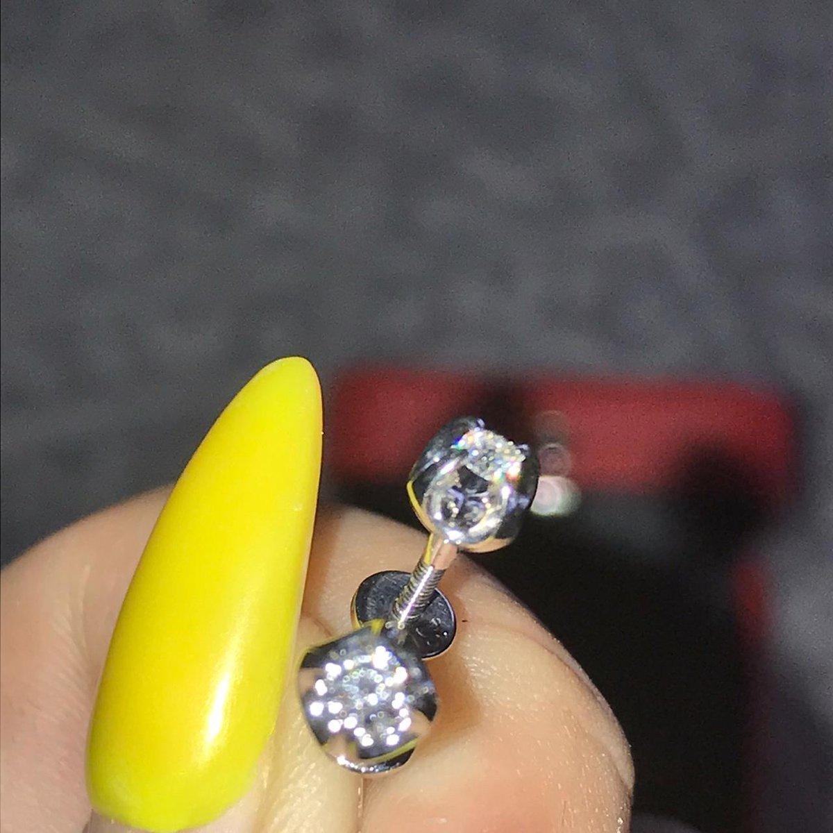 Пусеты «бриллианты якутии»