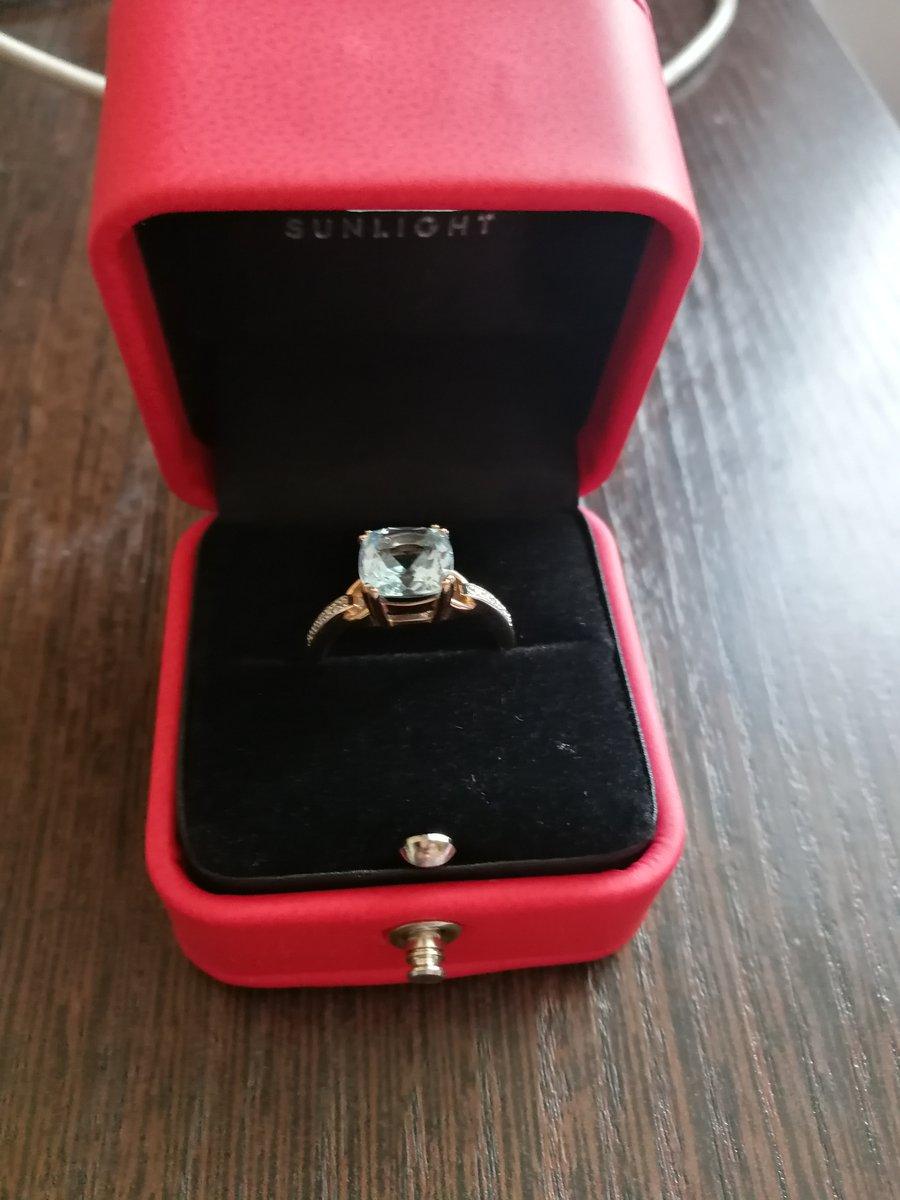 На день рождения заказала кольцо