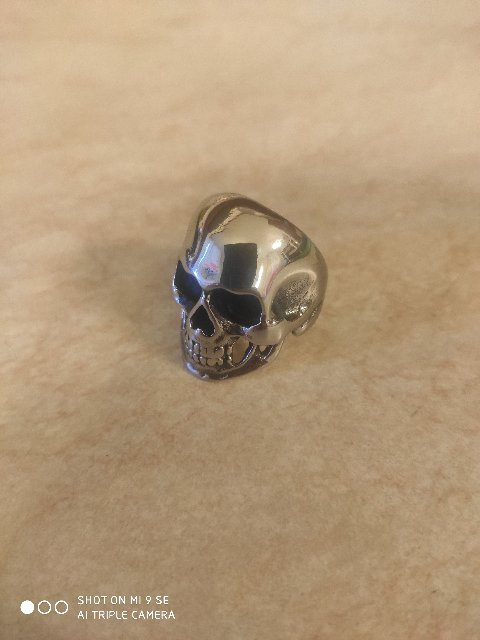 Кольцо череп сталь