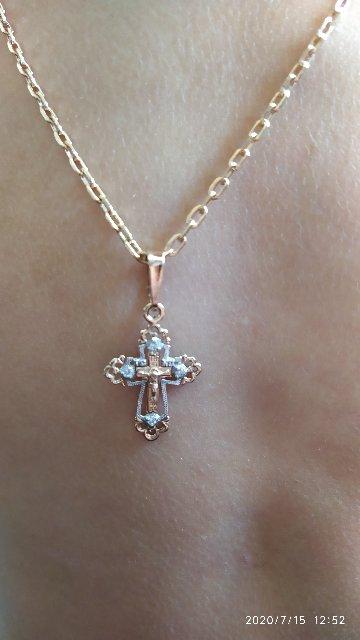 Шикарный золотой крестик