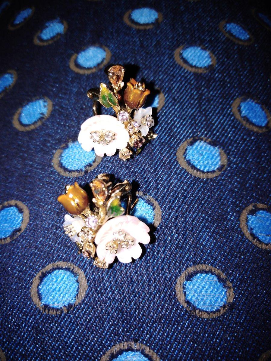 Серьги - букетик цветов