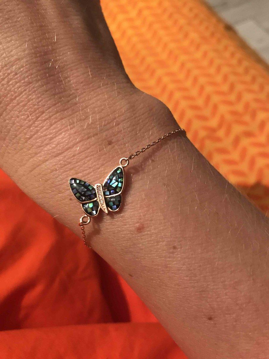 Браслет с бабочкой