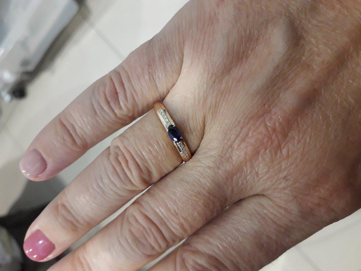 Кольцо с синтетическим сапфиром