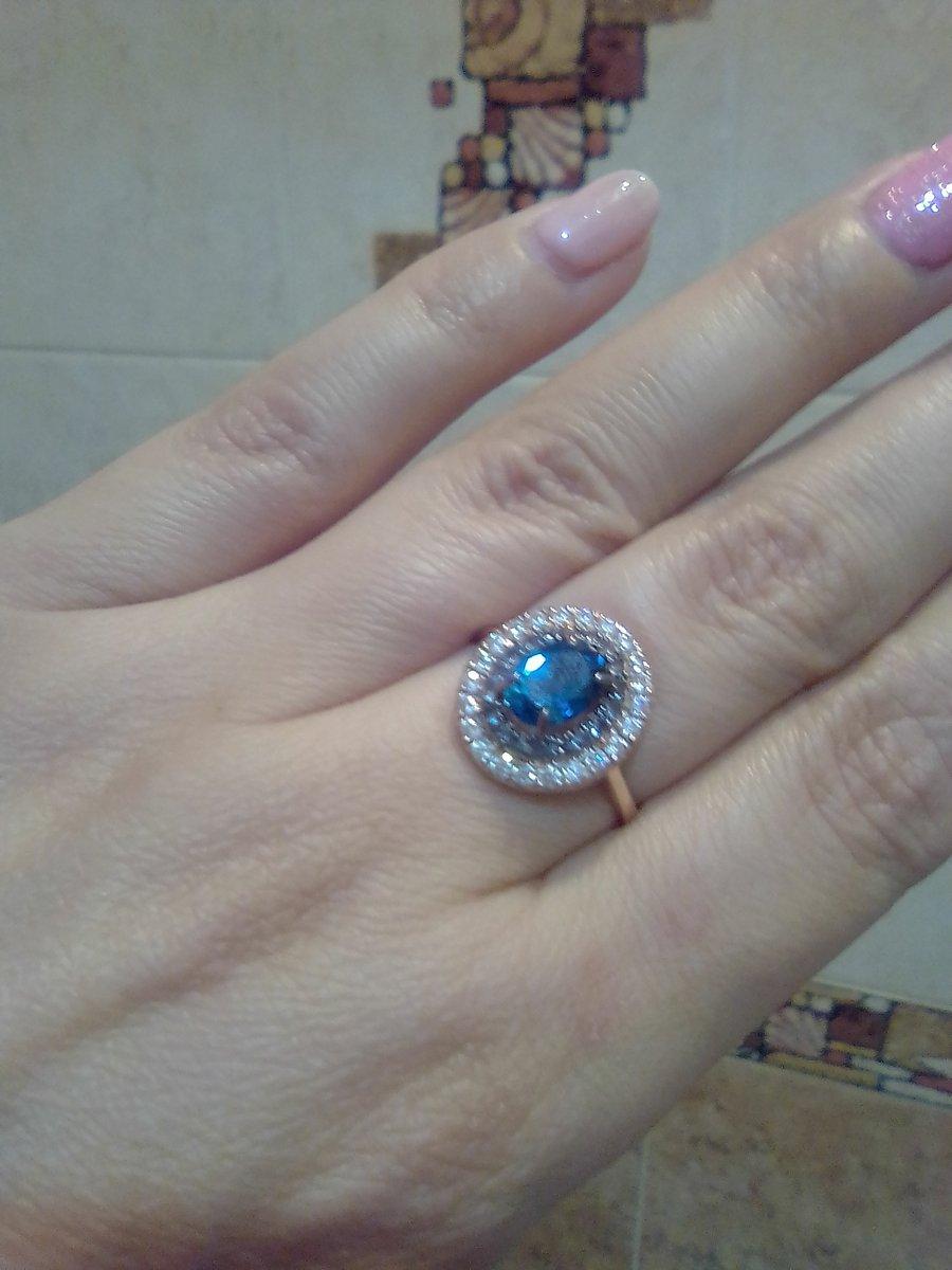 Любимое кольцо с топазом