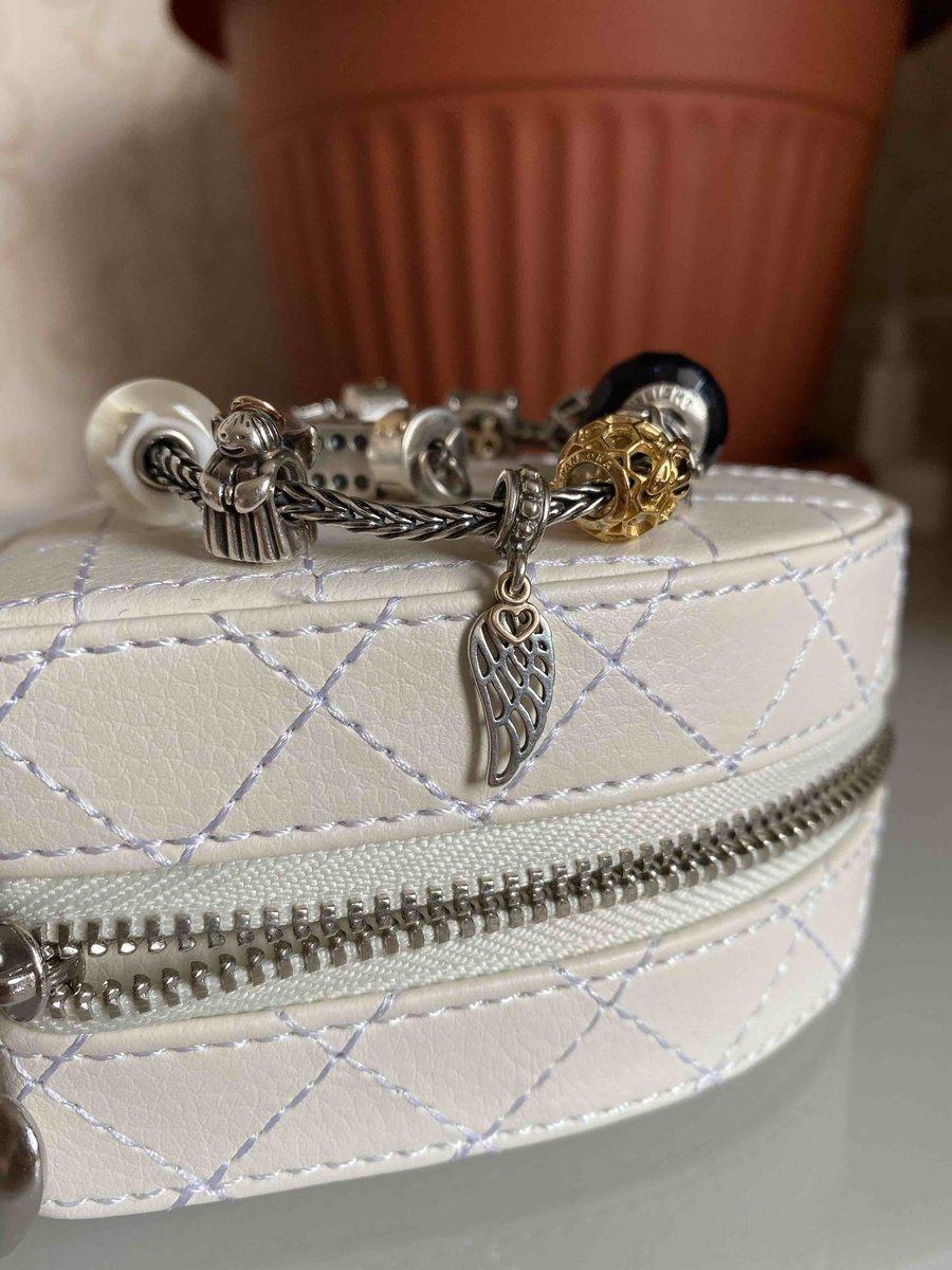 Серебряная подвеска с золотым сердечком