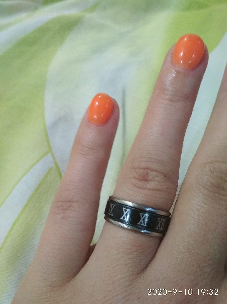 Стальное кольцо с цифрами