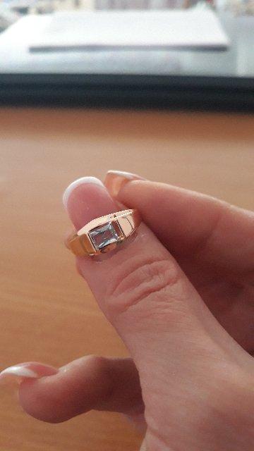 Кольцо с голубым топазом!