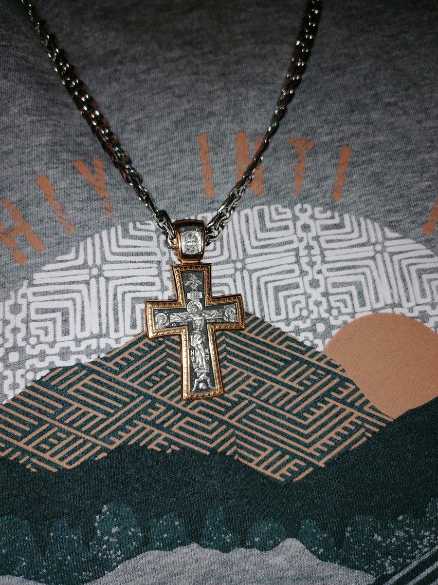 Серебряная подвеска - крест