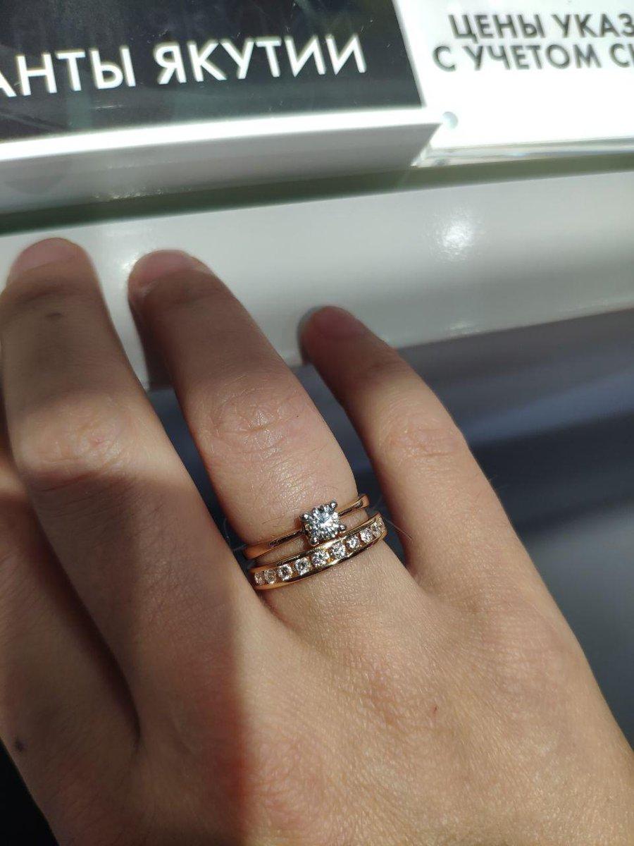 Прекрасный вариант помолвочного кольца