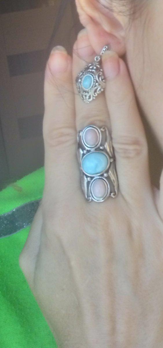 Серьги из серебра с ларимаром