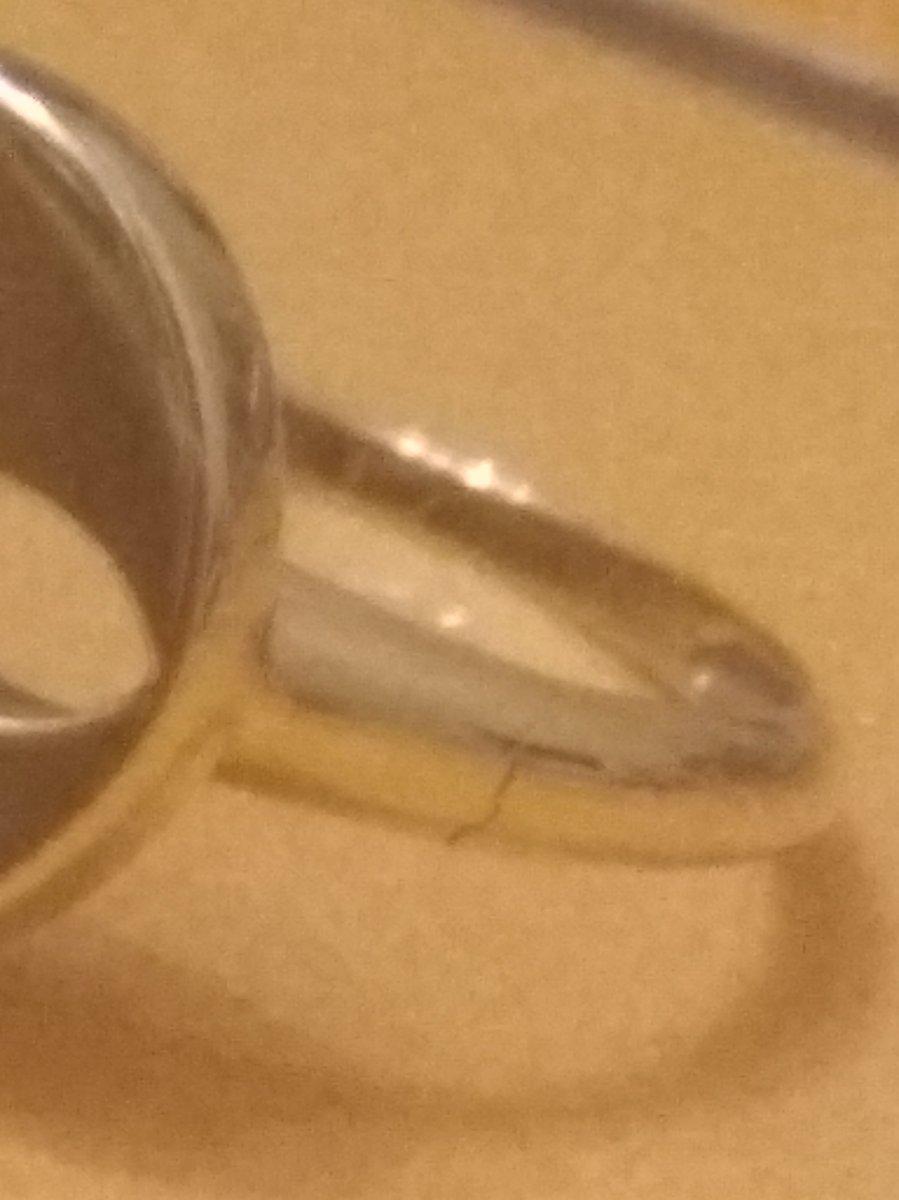 Кольцо треснуло