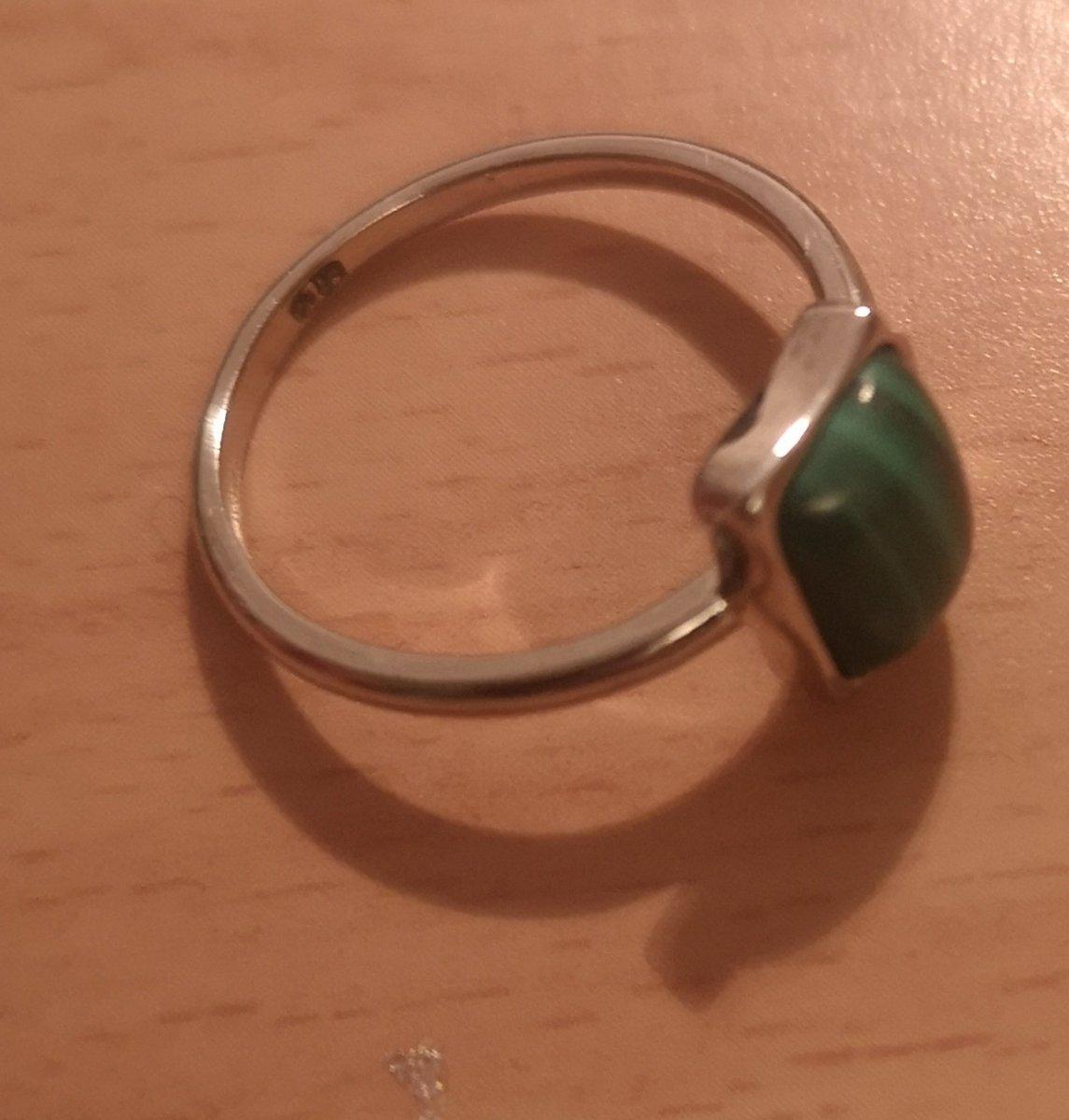 Кольцо с малахитовым камнем!