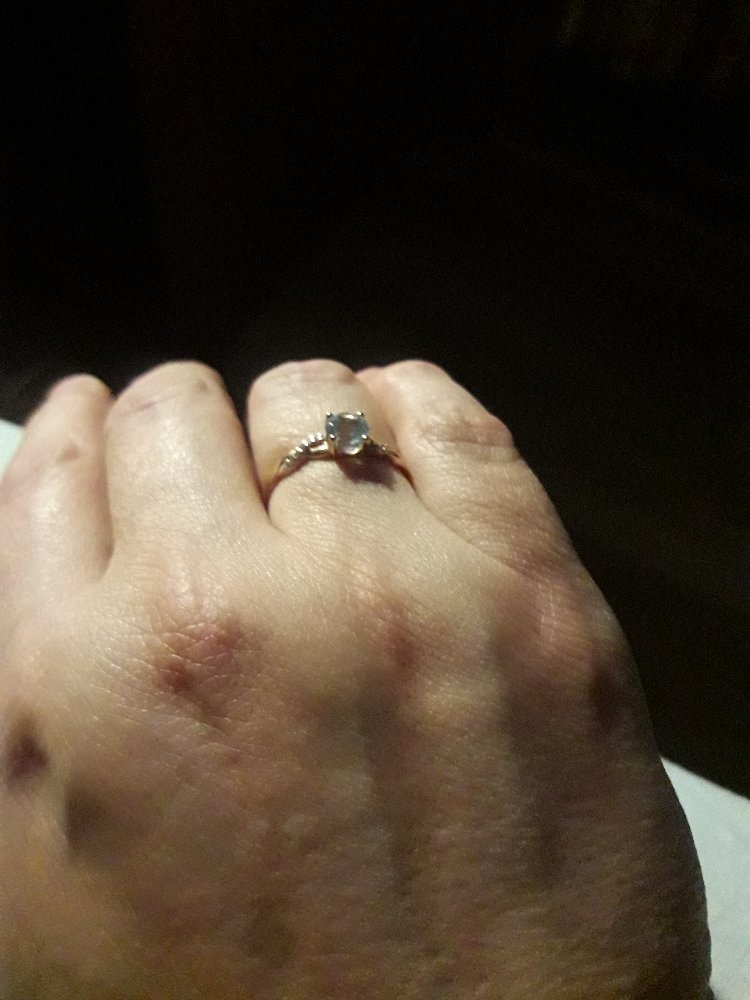 Колечко с топазом и бриллиантами