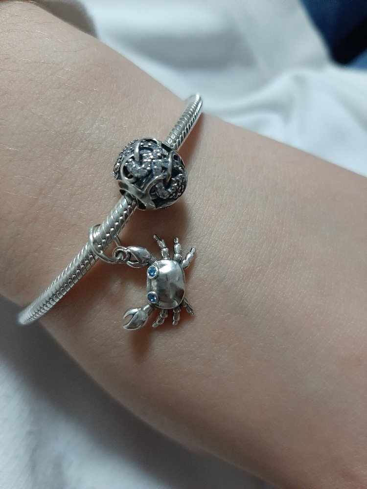 Крабик серебряный