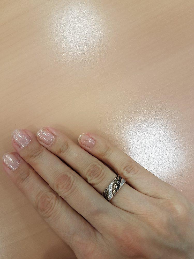 Золотое кольцо с бриллиантами из коллекции шоколад