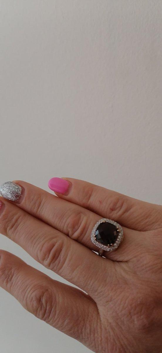 Красивое, шикарное кольцо с раухтопазом !!!