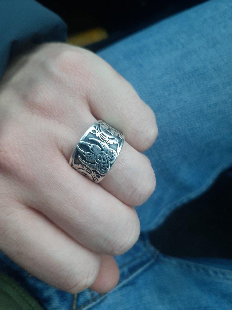 """Серебренное кольцо """"печать велиса"""", действительно классное))). одел, и все!"""