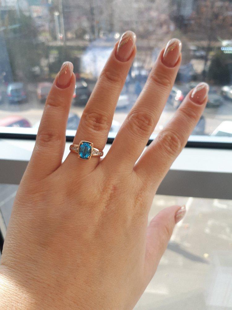 Топазы кольцо