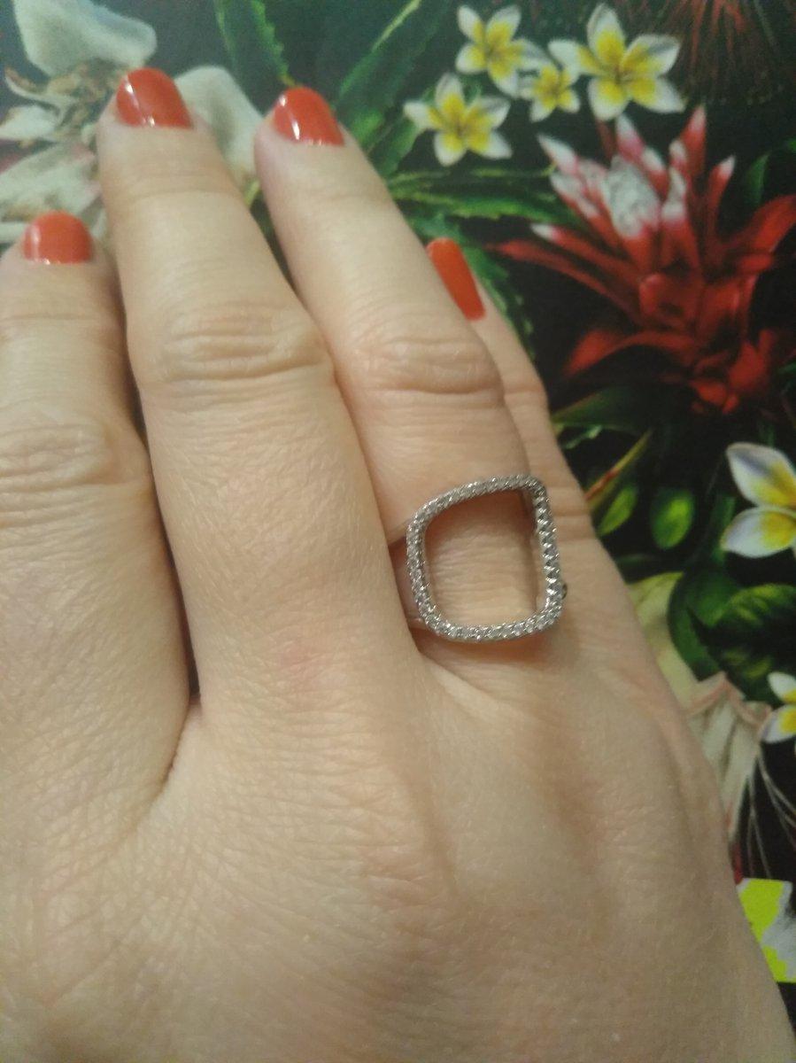 Серебряное кольцо с геометрией