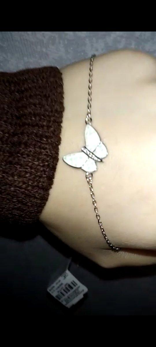 Нежный браслет с бабочкой.