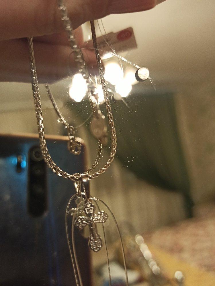 Милый серебряный крестик,подходящий  для детишек