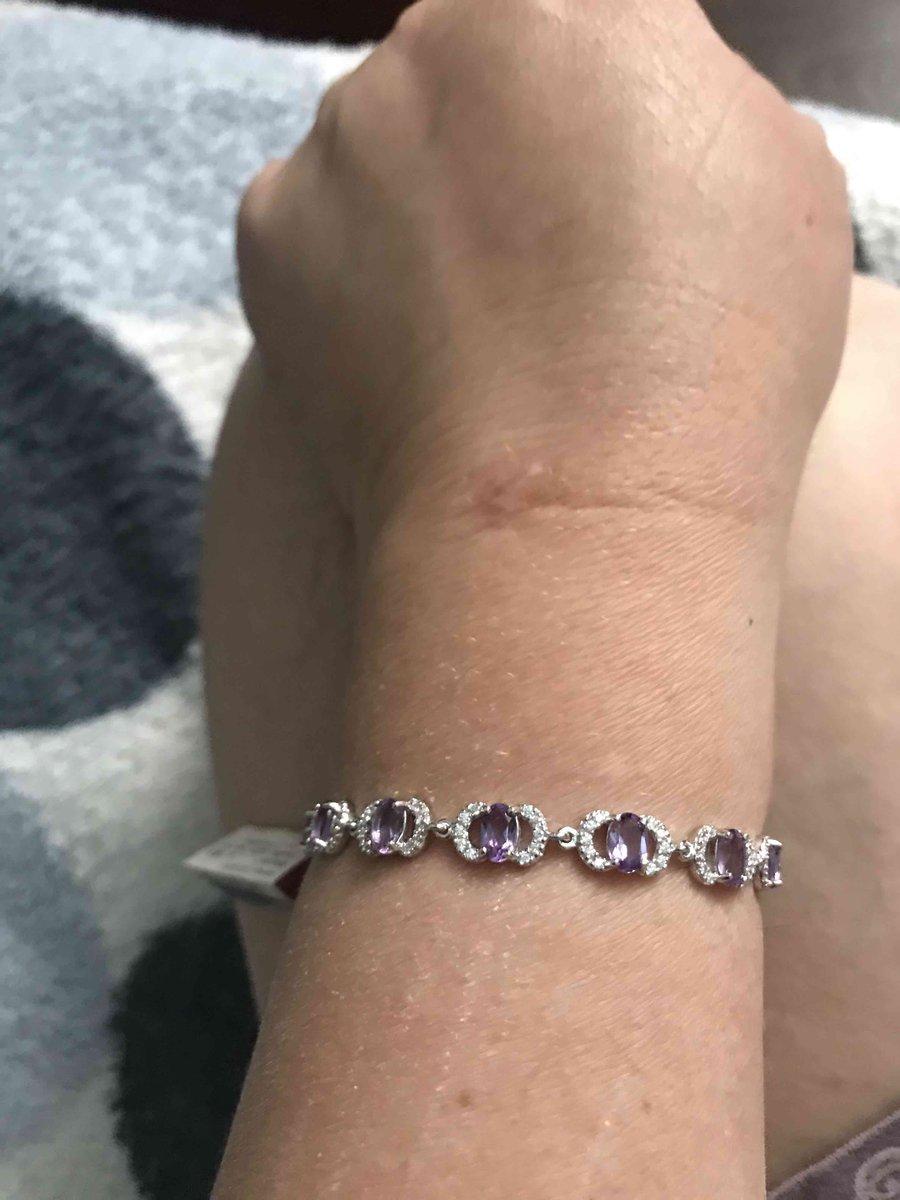 Серебрянный браслет с аметистом