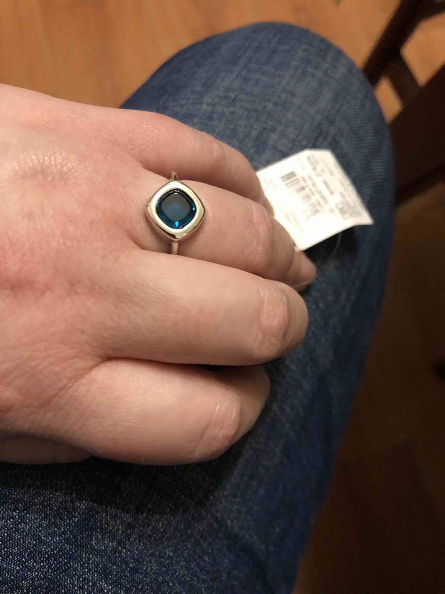 Кольцо с «топазом»