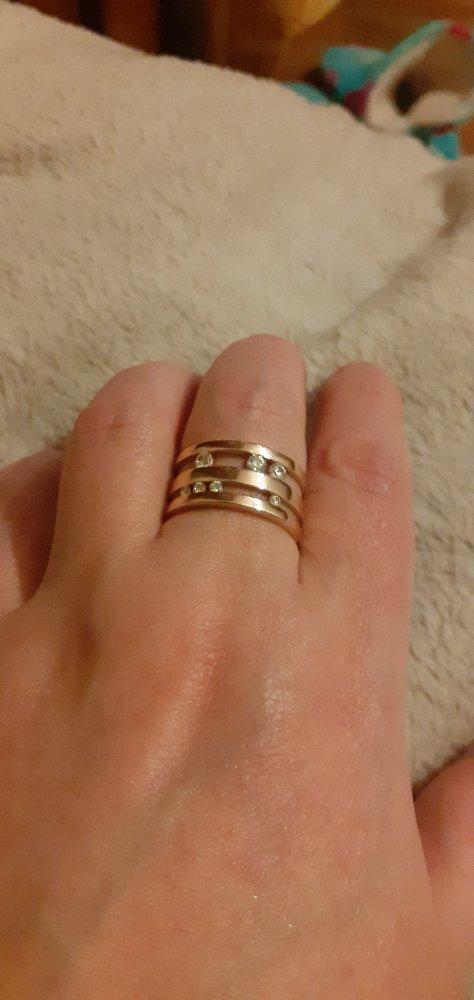 Кольцо серебряное с фианитами