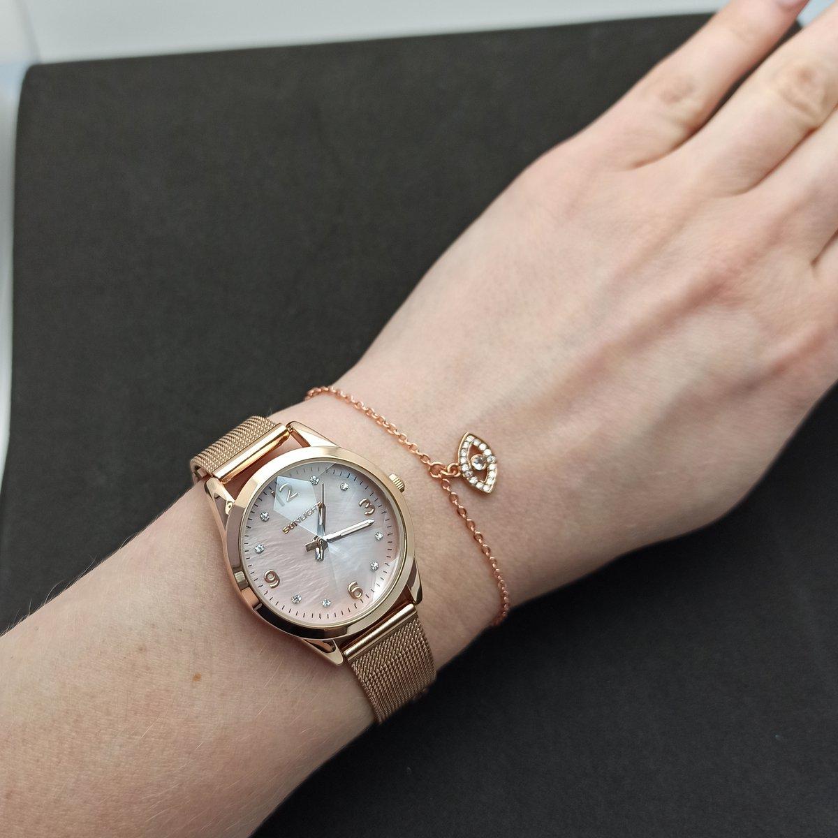 Часы под розовое золото.