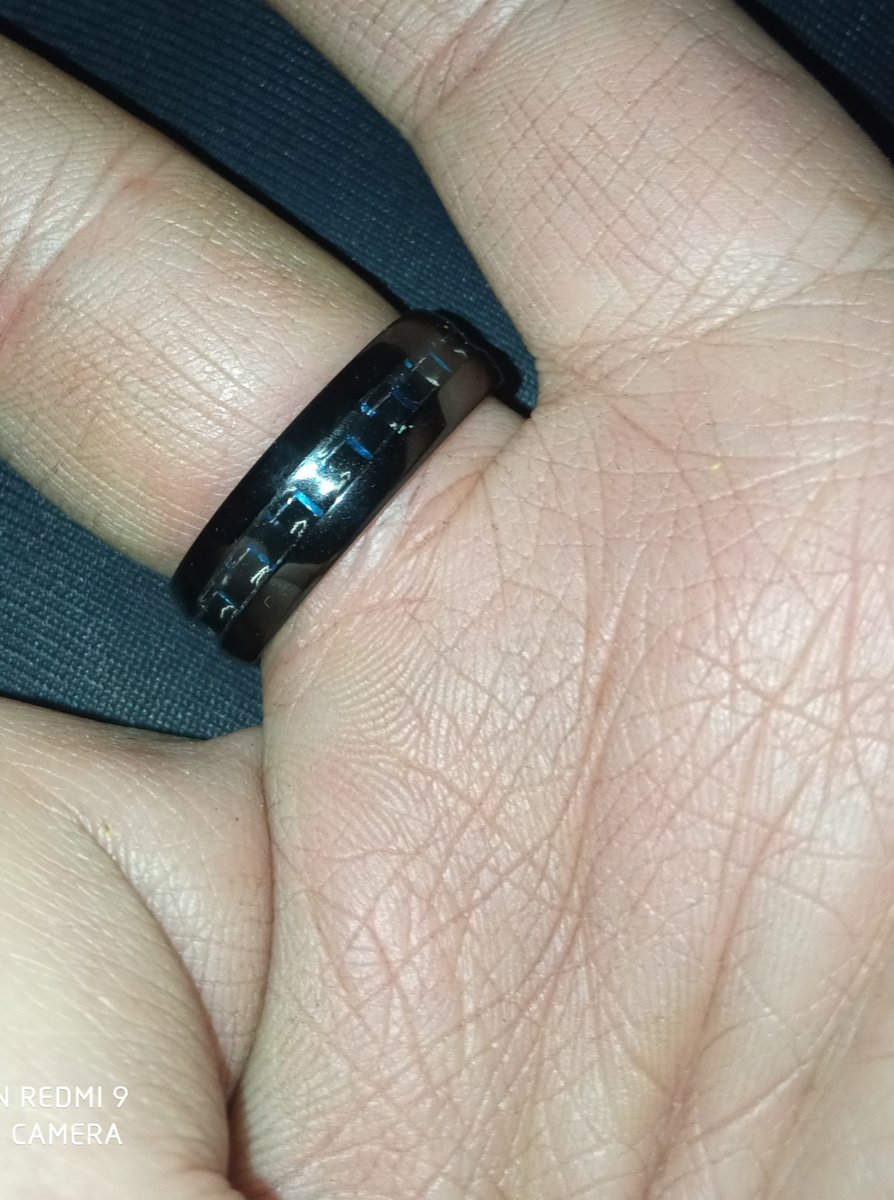 Кольцо вольфрам и карбон