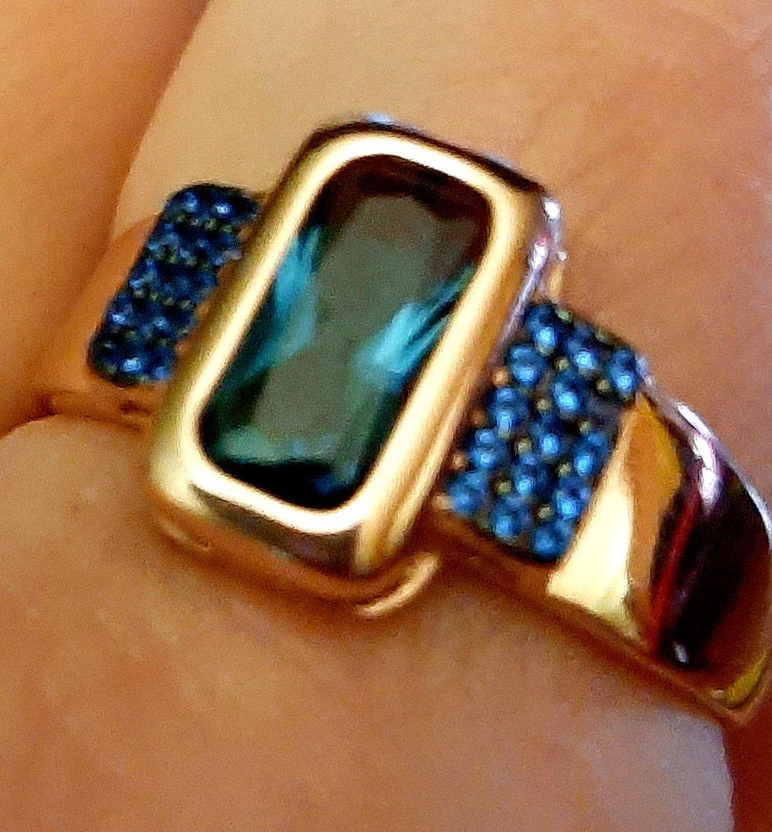 Серебряное кольцо.