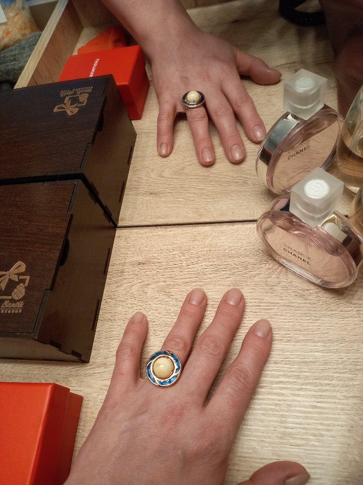 Кольцо и серьги с янтарем