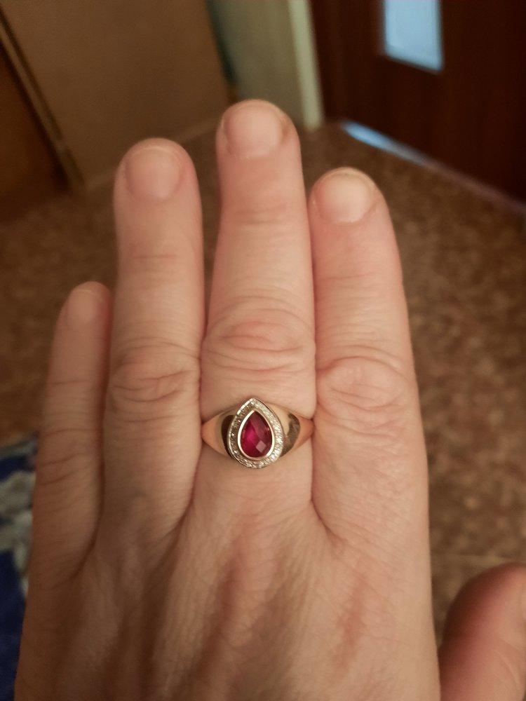 Кольцо с рубином,просто сказка😘
