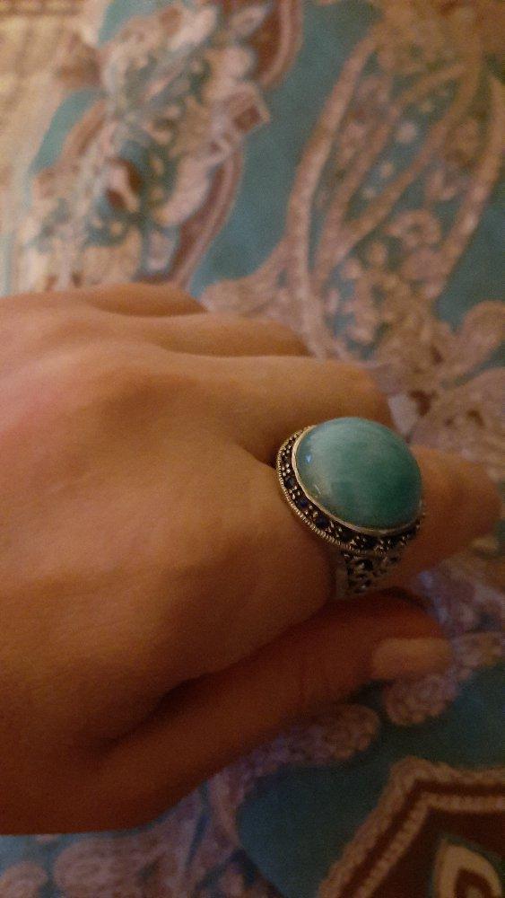 Кольцо с амазонитом.