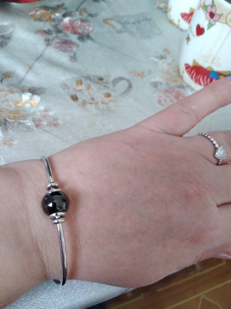 Шикарный серебряный браслет с керамикой🥰🥰🥰