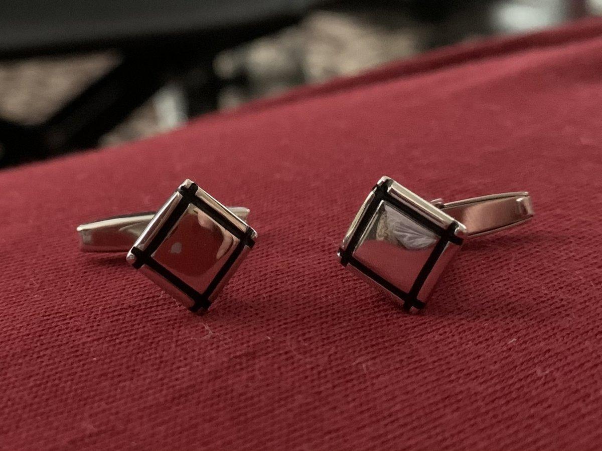 Серебренные запонки с эмалью