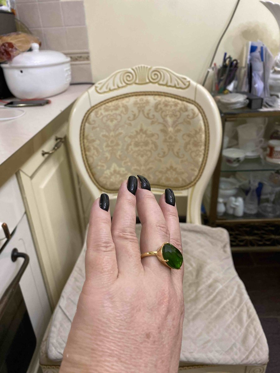 Кольцо ракушка с иск.алпанитом